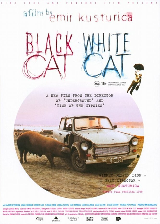 report on the film black cat white cat by emir custurica essay Black cat, white cat is a comedy, romance film released in 1998 and directed by emir kusturica with a runtime of 127 minutes the star actors of black cat, white cat are bajram severdzhan, branka katić, florijan ajdini, jashar destani, ljubica adzovic, predrag laković, sabri sulejmani, srđan todorović, zabit memedov.