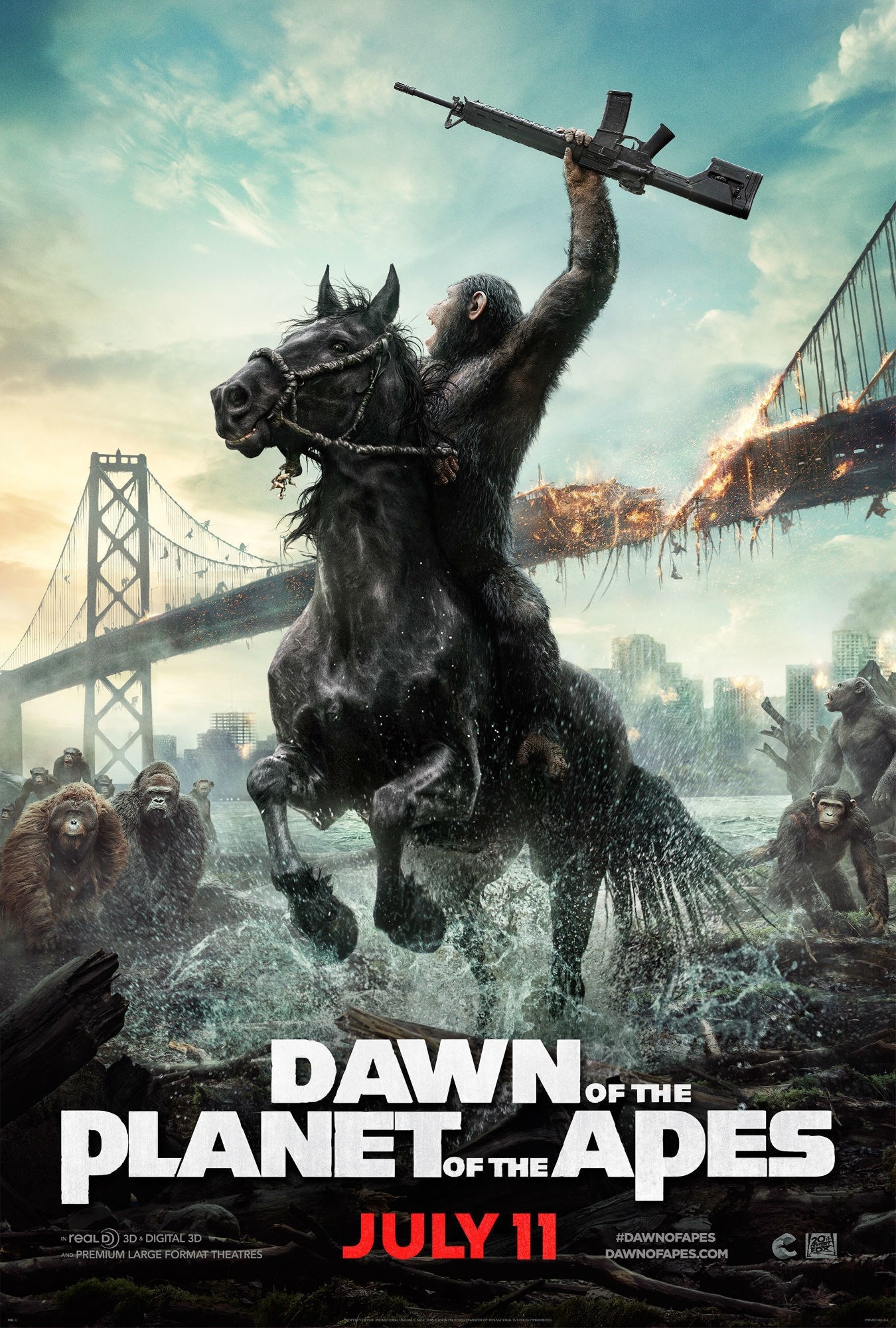 dawn of the planet of the apes download yify