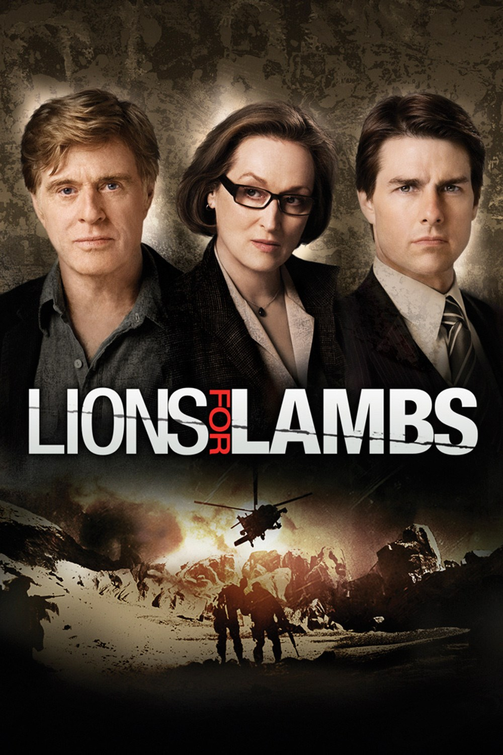 Lions for Lambs 2007 BluRay 720p 800MB ( Hindi – English ) ESubs MKV
